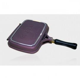 Ple6d-PLE 雙面鍋(6重鈦鑽石塗層):PLE 雙面鍋由高純度鋁合金壓鑄製作